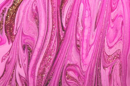 Abstract sparkling pink background. Close up nail polish texture. Reklamní fotografie