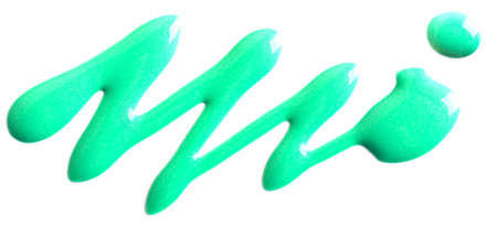 Glitter light green nail polish isolated on white Reklamní fotografie