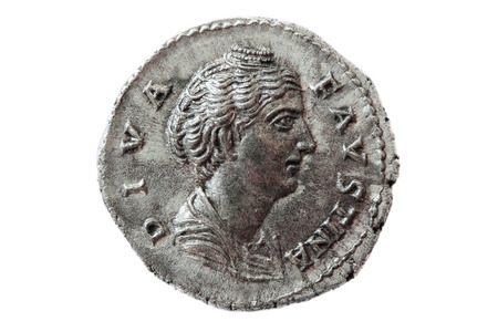 Roman silver coin, denarius Фото со стока - 86179080