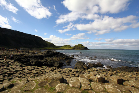 famous tourist site in Northern Ireland. Stock Photo
