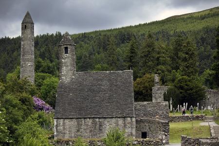 irish culture: Irish monastery Glendalough Stock Photo