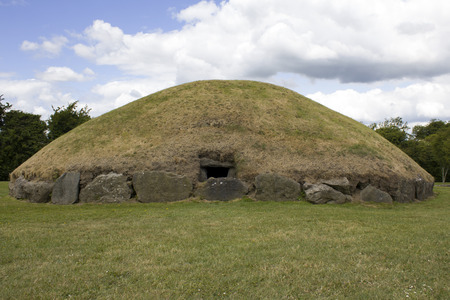 Newgrange and Knowth, prehistoric site 写真素材