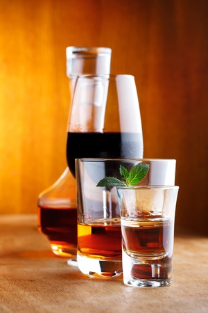 alcohol drinks with mint leaf Stock Photo - 9856036