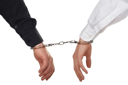 hands with handcuffs photo