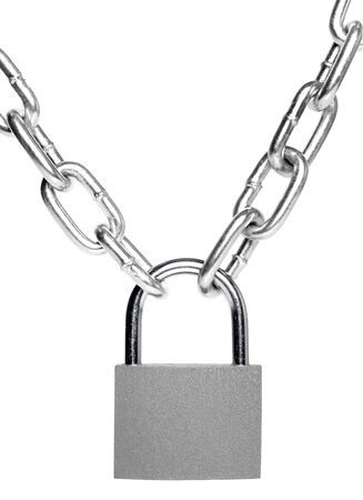 lock and chain: lock and chain isolated on white background