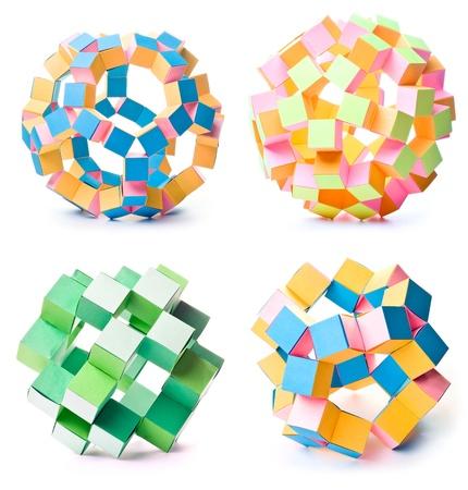 icosahedron: origami geometric stars