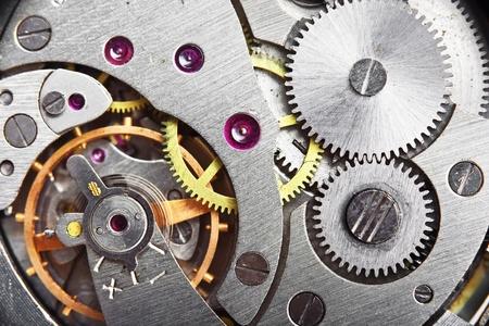 clockwork: mechanism gear of vintage clock