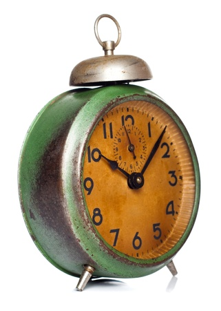 vintage clock isolated on white  photo