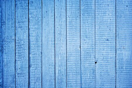 blue painted wooden fence  photo
