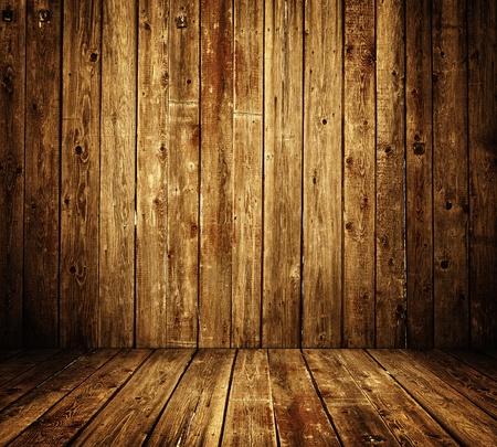 madera r�stica: interior de la habitaci�n de madera Foto de archivo