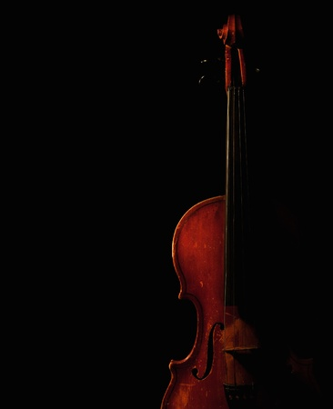 fiddles: vintage violin silhouette Stock Photo