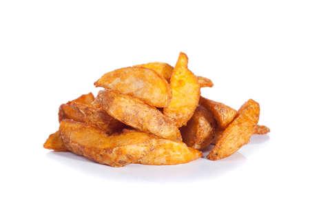 baked potatoes: roasted potato isolated on white Stock Photo