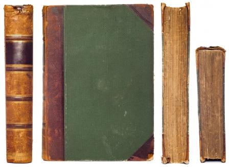 빈티지 책의 측면 세트 - 척추, 제 1 커버, 컷과 위쪽 스톡 사진
