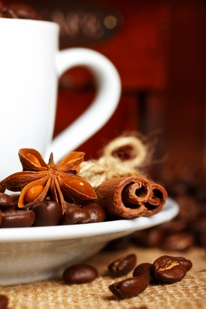 anisetree: coffee spices - anise stars and cinnamon