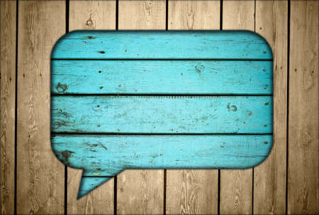 Wooden fence with chat box Stock Photo - 12773203