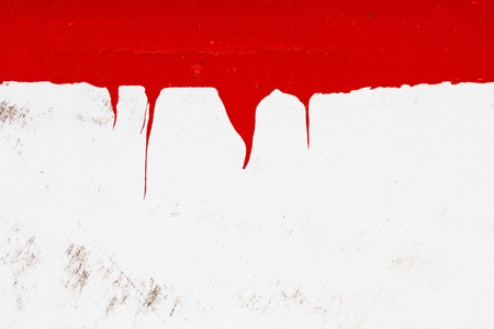 blood dripping: wooden grungy painted background Stock Photo