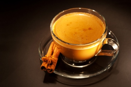 anisetree: dark coffee with cinnamon still-life  Stock Photo