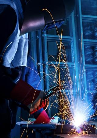 soldador: trabajo soldador