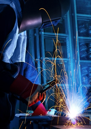 working welder