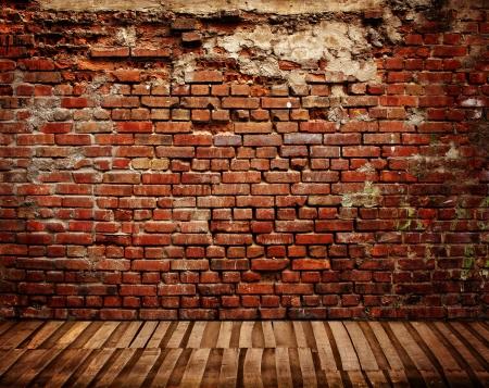 brick floor: interior de la habitaci�n oscura