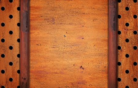 painted rusty metal background with copy-space  photo