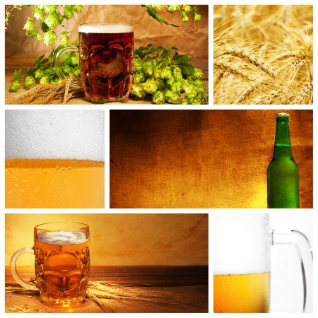 아름다운 맥주 콜라주