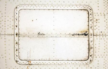 aircraft rivets: aluminium plate with rivets