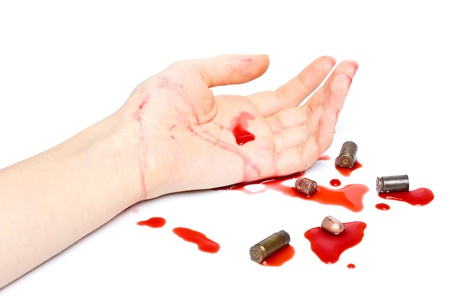 Crime scene with bullets and blood Stock Photo - 12828696