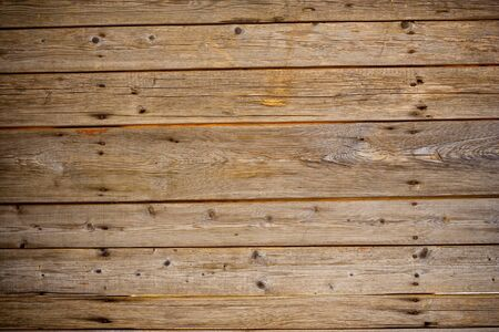rusty nail: old wooden fence