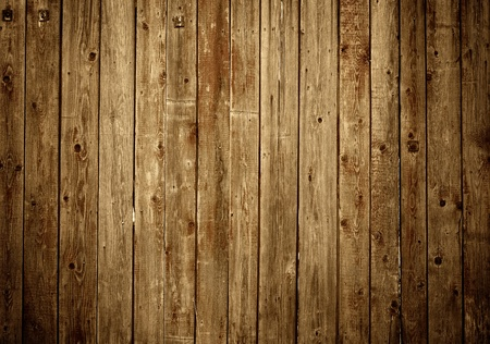 rusty nail: old wooden fence background Stock Photo