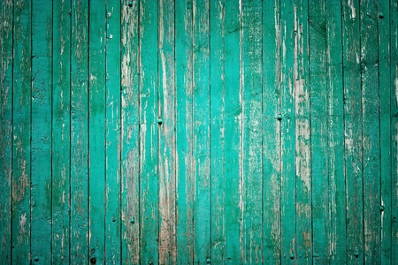 flaking: wooden fence