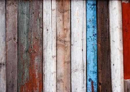 old multicolored wooden fence Stock Photo - 12827479