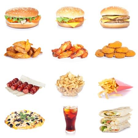 fish and chips: conjunto de comida rápida Foto de archivo