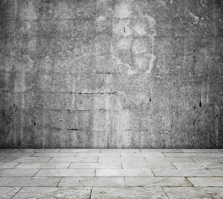 concrete room: concrete interior - room