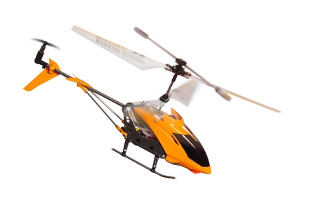remote controlled: Flying RC helicopter