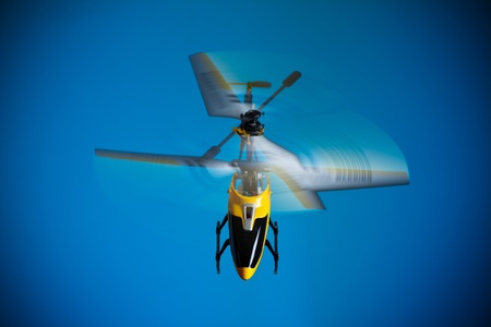 Flying RC helicopter photo