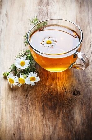 herbal chamomile tea  photo