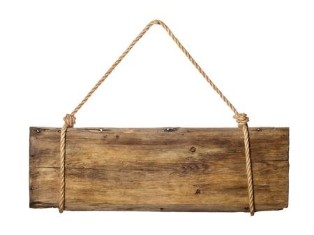wooden plaque: signboard
