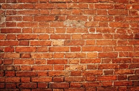 decrepit: old brick wall