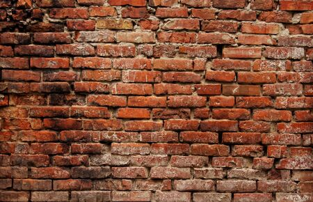 decrepit: old brick wall background Stock Photo