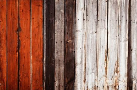 old painted wooden fence photo