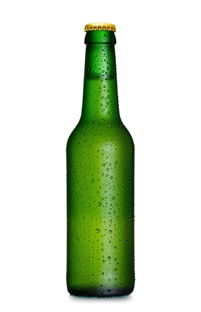 beer bottle: Beer bottle with water drops