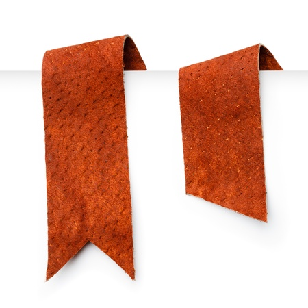 Leather bookmark ribbons photo