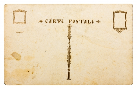 carte: Retro post card isolated on white
