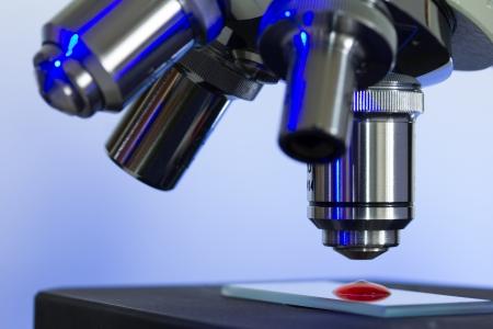 microscopio: Microscopio lentes closeup Foto de archivo