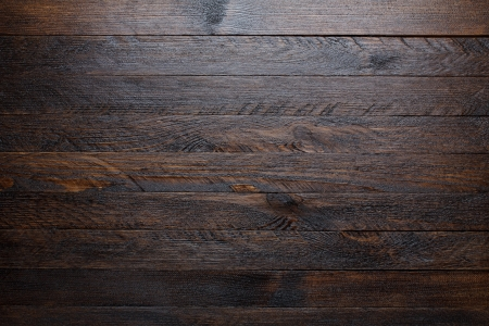 Rustic wooden table background top view photo
