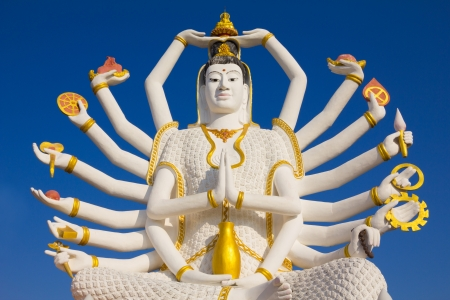 big buddha: Big Guan Yin statue at Wat Plai Laem Temple, Koh Samui, Thailand Stock Photo