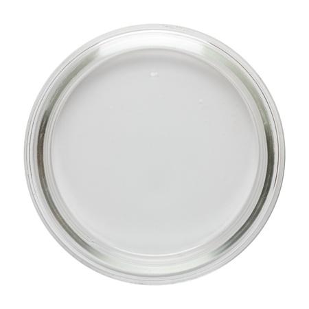 Schone lege Perti schotel geïsoleerd op wit, bovenaanzicht