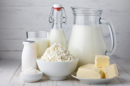 cottage cheese: Dairy products Stock Photo