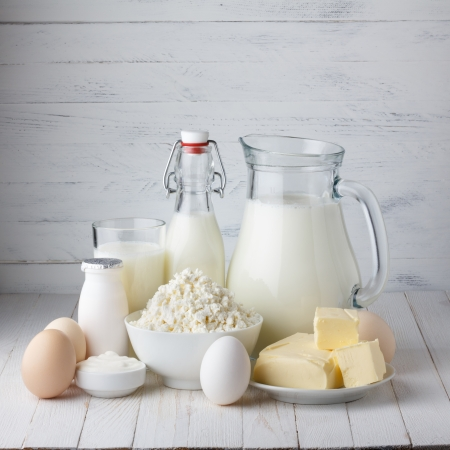 Dairy products Stock Photo